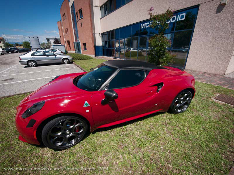 Alfa Romeo 4c Wrapping With Anti Stone And Carbon Fiber