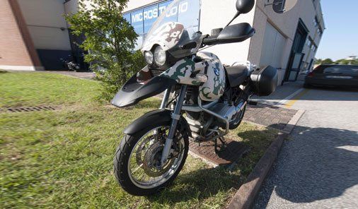 wrapping moto BMW GS Treviso
