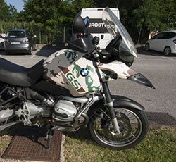 moto wrapping bmw gs