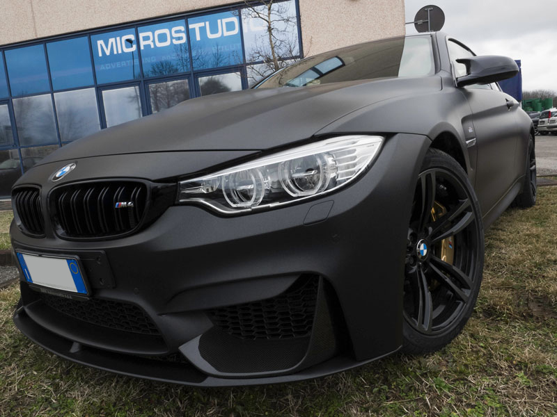 Car Wrapping Bmw M4 Metallic Matte Black
