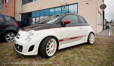 Fiat 500 abarth twin color