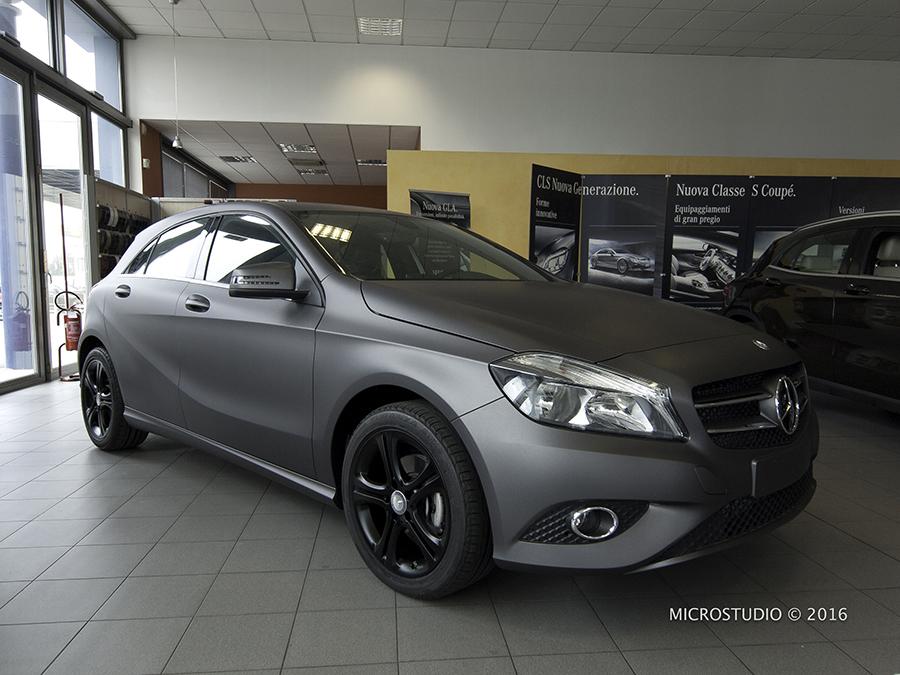 Matte Grey Car >> Mercedes Classe A - Wrapping Grigio Opaco metallizzato