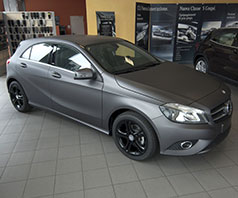 mercedes classe a wrapping grigio opaco