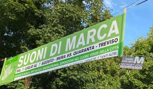striscione pubblicitario Treviso