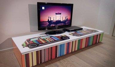 personalizzazione tavolino porta TV