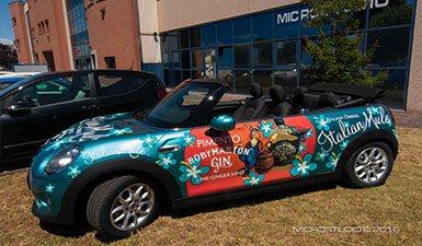 Decorazione pubblicitaria mini cabrio - Microstudio Treviso | Roby Marton