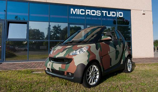 Car Wrapping Camouflage Treviso