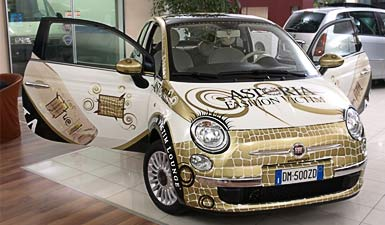 advertising car wrapping Fiat 500