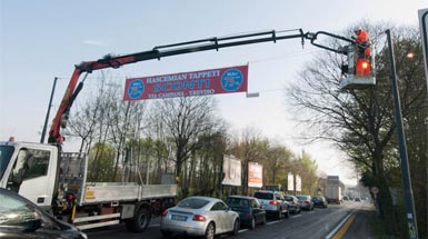 Installation and Design of road banners