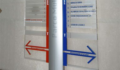Indoor directional sign
